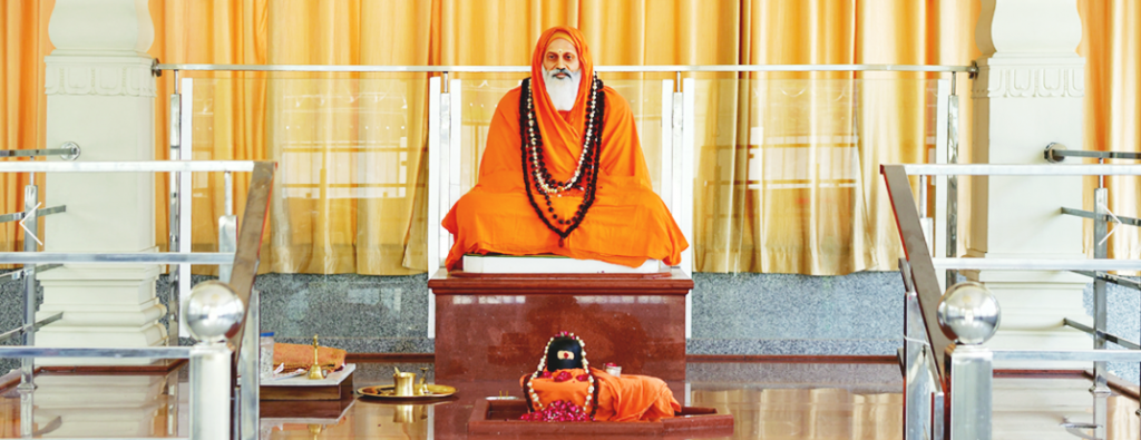 Pujya Swamiji's Adhisthanam at the ashram in Rishikesh